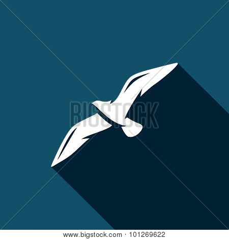 Seagull Icon. Vector Illustration.