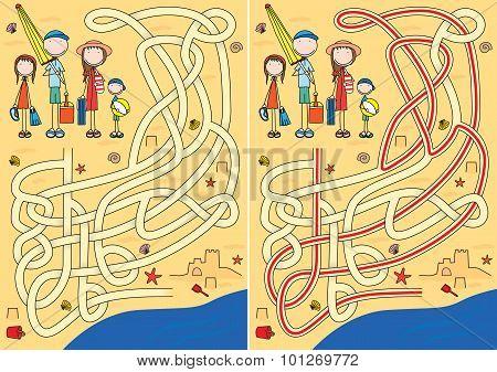 Happy Family Maze