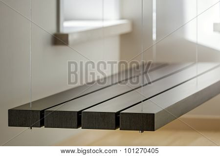 View Of Suspended Bench In Light Interior