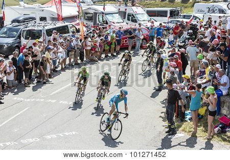 Group Of Cyclists On Col Du Glandon - Tour De France 2015