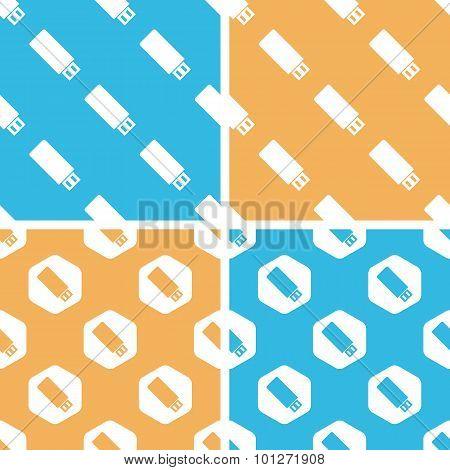 USB stick pattern set, colored