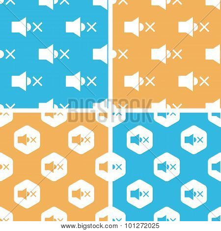 Muted loudspeaker pattern set, colored