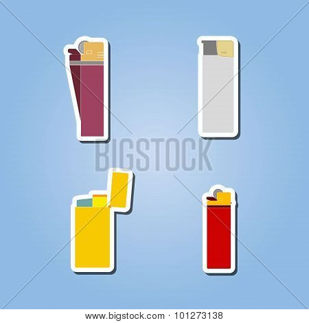 color icon set with lighter
