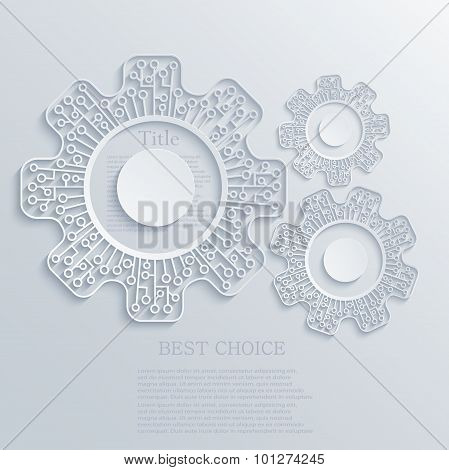 Vector modern concept mechanism and circuit board