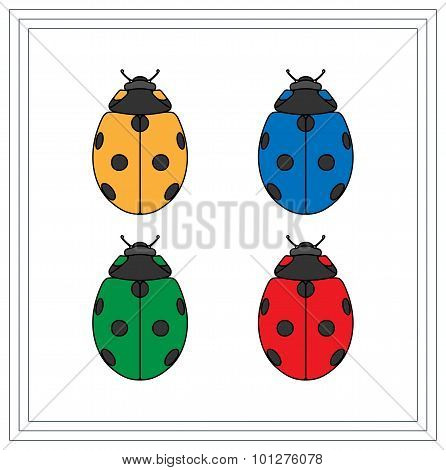 Full Colored Illustration Of A Ladybug.