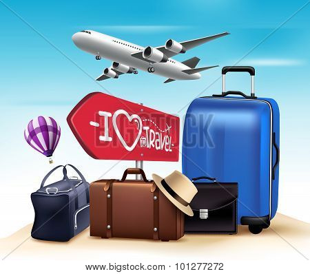3D Realistic Travel and Tour Design with Set and Collections of Bags
