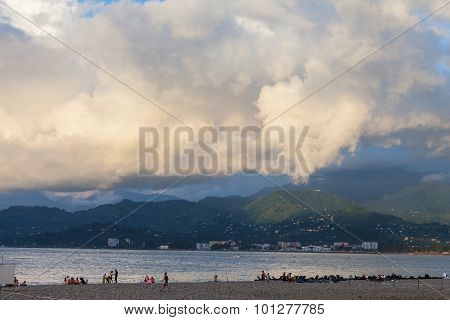Batumi, Adjara, Georgia - September 1, 2015: Seafront Of Batumi, Georgia