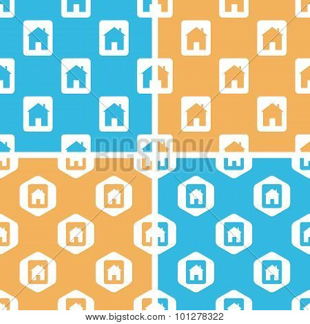 House plate pattern set, colored