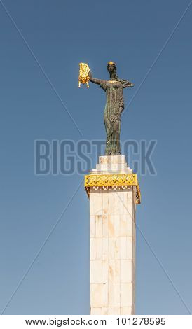 Batumi, Adjara, Georgia - September 1: Medea Statue Holding The Golden Fleece On September 1, 2015 I