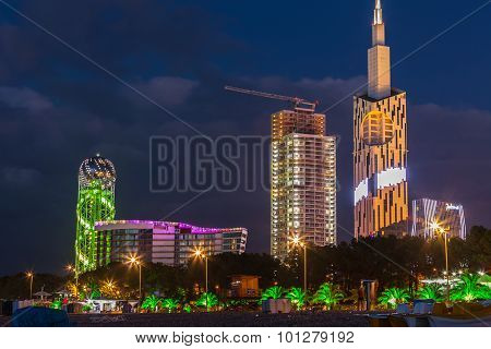 Batumi, Georgia - July 29: New Building Of Batumi Technological Universityt On July 22, 2015 In Batu