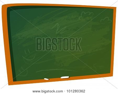 Empty Chalkboard For Writing On It