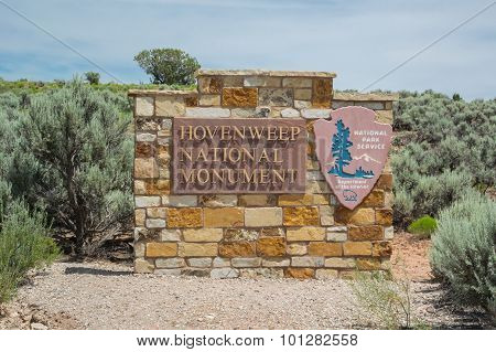 Hovenweep National Monument Sign