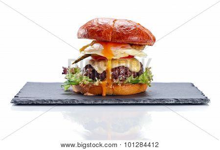 Burger On White Background