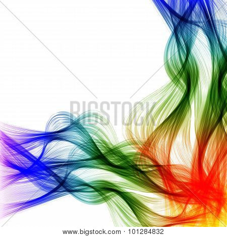 Abstract Color Lines Wave Design Easy Editable