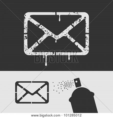 Symbol Stencil Mail