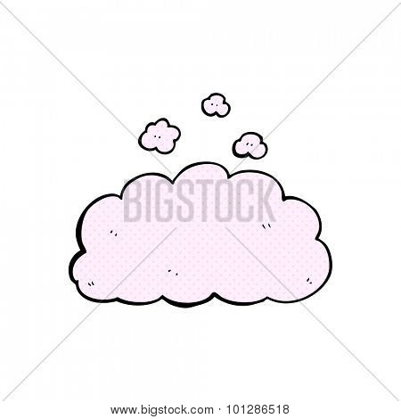 comic book style cartoon fluffy pink cloud