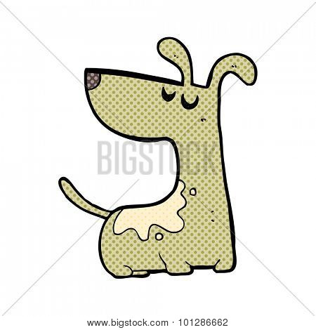 comic book style cartoon happy dog