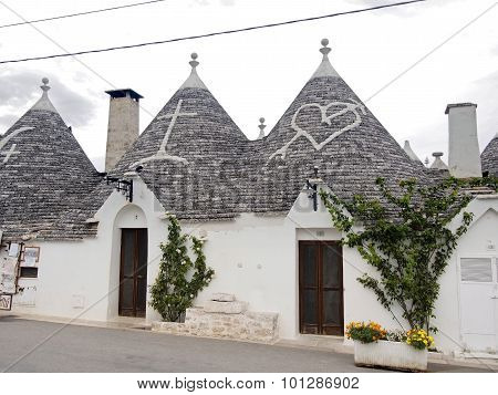 White Trulli Of Alberobello, In Puglia