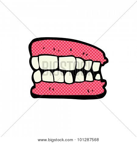 comic book style false teeth