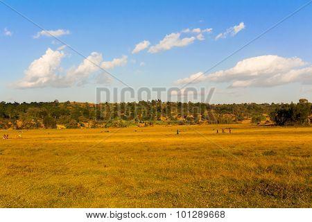Rural Landscape In Ethiopia.