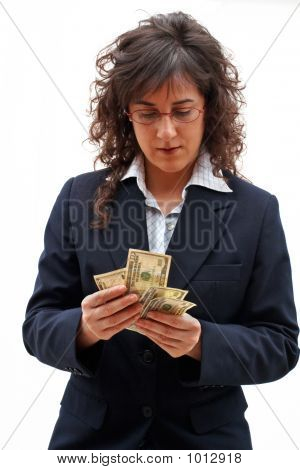 Business Woman Counting