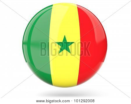 Round Icon With Flag Of Senegal