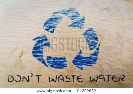 Don't Waste Water (recycle Symbol)