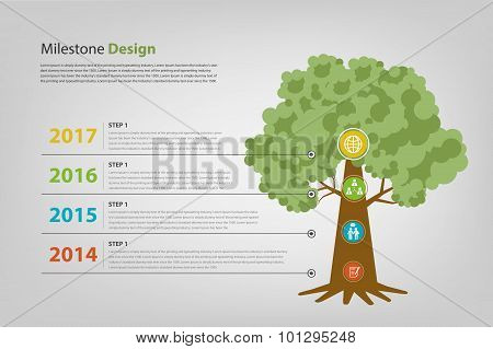 Milestone And Timeline Infographic Vector Eps10