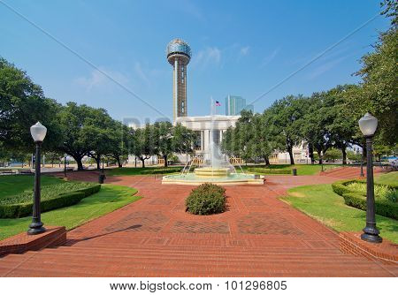 The Dallas Union Train Station, Plaza, And Tower