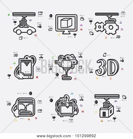 three d printer infographic