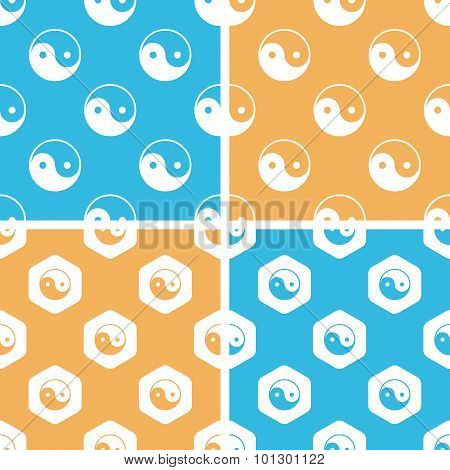 Ying yang pattern set, colored