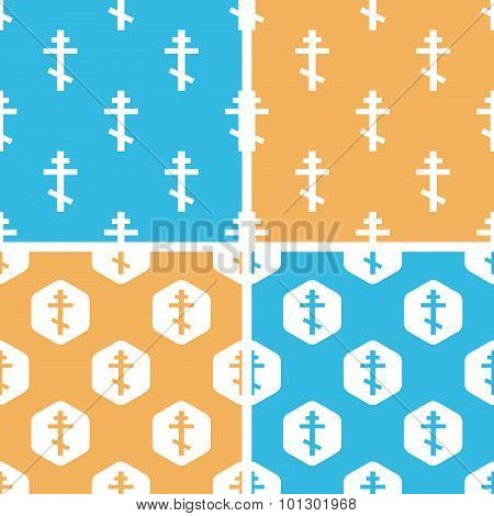 Orthodox cross pattern set, colored