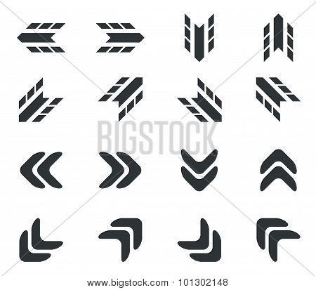 Arrow icon set 2, simple