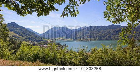 Pictorial Lake View Schliersee From Mountain Path