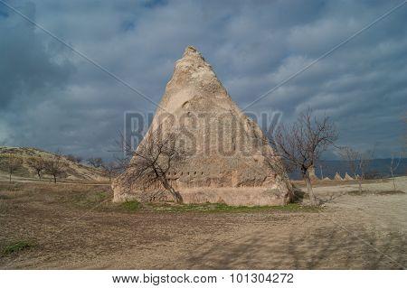 Earthern Pyramid In Cappadocia