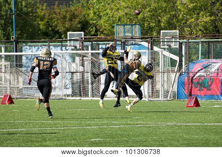 A. Starodubtsev (18) Fall Down Getting Ball