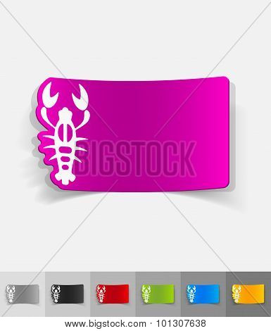 realistic design element. crayfish