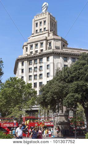 Architecture Of Plaza De Catalunya