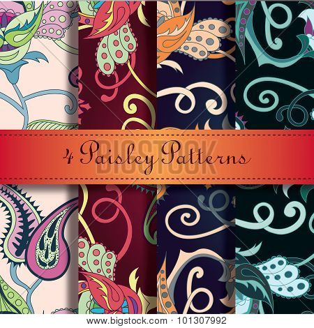 Vector Paisley indian ornament.