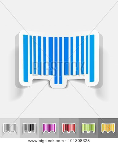 realistic design element. barcode