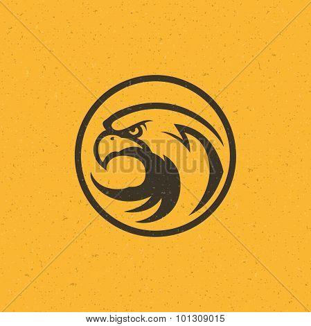 Eagle head logo emblem template