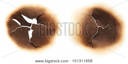 Paper With Burnt Holes