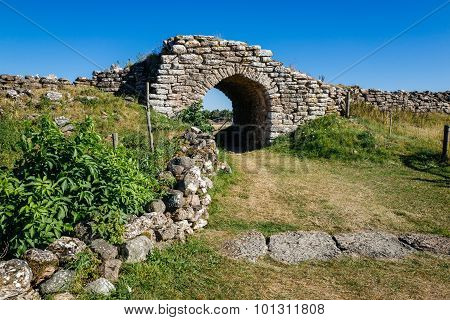 Ancient fortification in Sweden