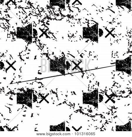 Muted loudspeaker pattern, grunge, monochrome