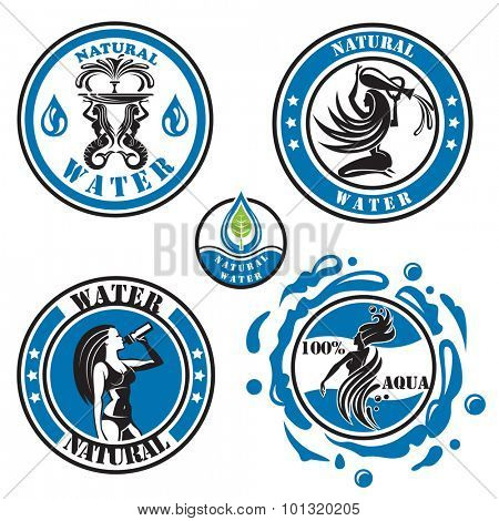 set of five water icons