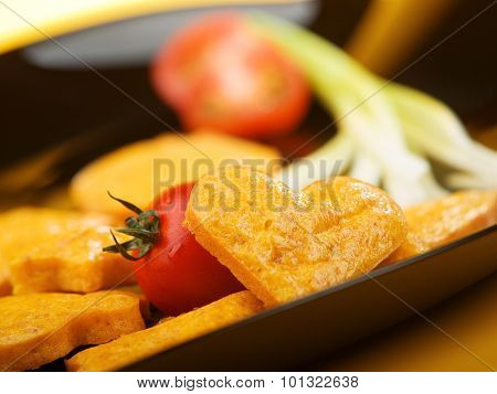Salty Biscuits With Onion And Tomato