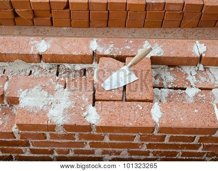 Mason bricklaying background