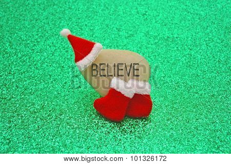 Believe In Santa Claus Concept Image
