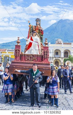 The Patron Saint Of Antigua Procession