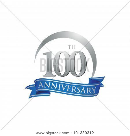 100th anniversary ring logo blue ribbon